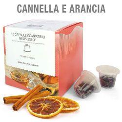 Picture of 10 capsule Tisana in foglia Cannella e Arancia compatibile Nespresso