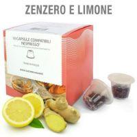 10 capsule Tisana in foglia Zenzero e Limone compatibile Nespresso