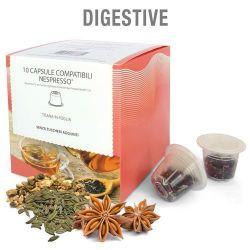 Picture of 10 capsule Tisana in foglia Digestive compatibile Nespresso