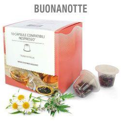 Picture of 10 capsule Tisana in foglia Buonanotte compatibile Nespresso