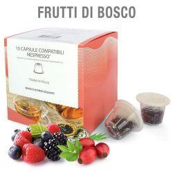 Picture of 10 capsule Tisana in foglia Frutti di Bosco compatibile Nespresso