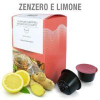12 Capsule Tisana in foglie Zenzero e Limone Compatibili Nescafé Dolce Gusto