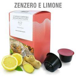 Picture of 12 Capsule Tisana in foglie Zenzero e Limone Compatibili Nescafé Dolce Gusto
