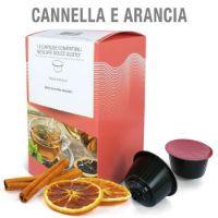 12 Capsule Tisana in foglie Cannella e Arancia Compatibili Nescafé Dolce Gusto